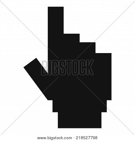 hand cursor pixel icon. Simple illustration of hand cursor pixel vector icon for web
