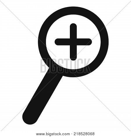 Cursor magnifier plus icon. Simple illustration of cursor magnifier plus vector icon for web