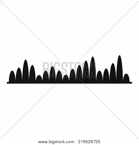 Equalizer level icon. Simple illustration of equalizer level vector icon for web