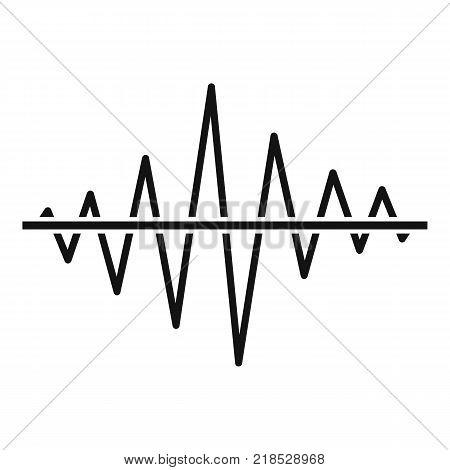 Equalizer voice radio icon. Simple illustration of equalizer voice radio vector icon for web