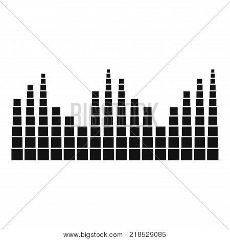 Equalizer level radio icon. Simple illustration of equalizer level radio vector icon for web