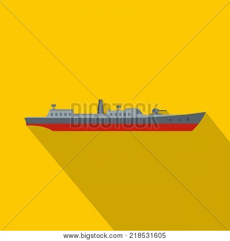 Ship combat icon. Flat illustration of ship combat vector icon for web