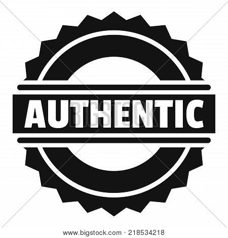 Authentic logo. Simple illustration of authentic vector logo for web
