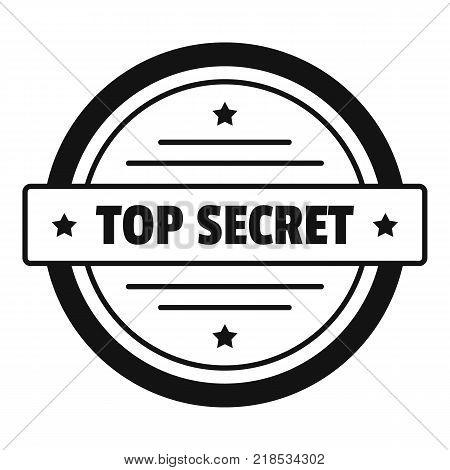 Top secret logo. Simple illustration of top secret vector logo for web