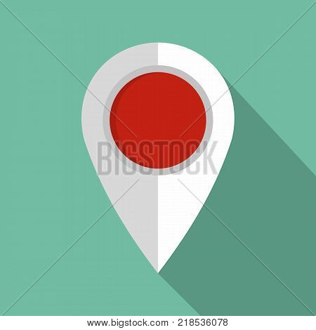 Map pin icon. Flat illustration of map pin vector icon for web
