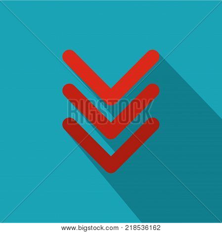 Pointing arrow icon. Flat illustration of pointing arrow vector icon for web