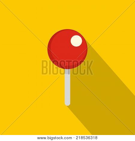 Attachment pin icon. Flat illustration of attachment pin vector icon for web