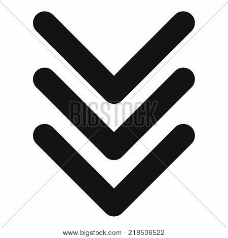 Pointing arrow icon. Simple illustration of pointing arrow vector icon for web