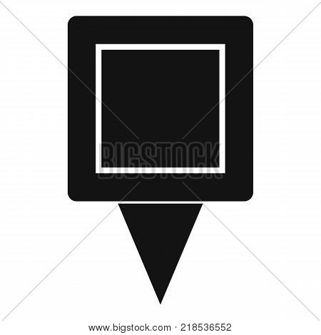 Square pin icon. Simple illustration of square pin vector icon for web