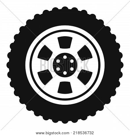 One tire icon. Simple illustration of one tire vector icon for web