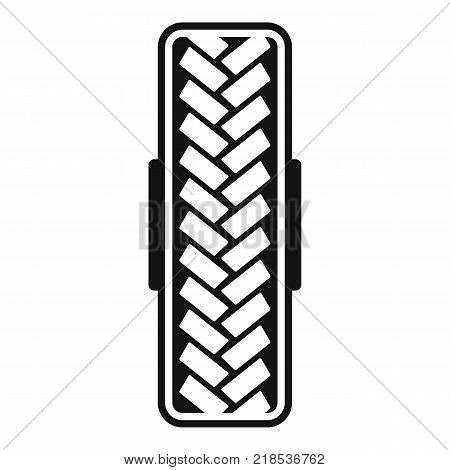 Tread pattern icon. Simple illustration of tread pattern vector icon for web