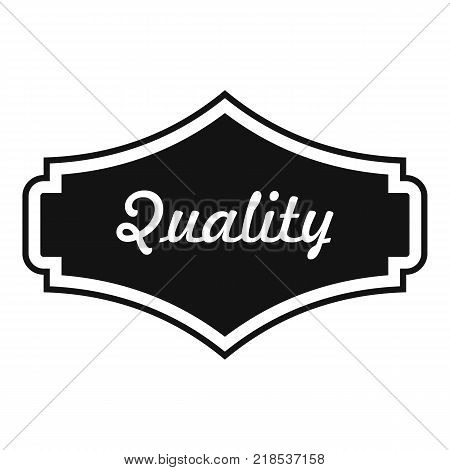 Quality label icon. Simple illustration of quality label vector icon for web