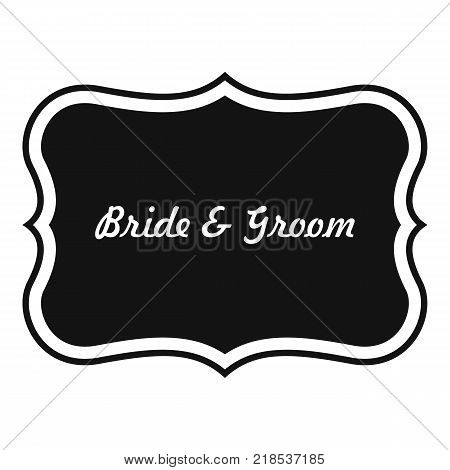 Just married label icon. Simple illustration of just married label vector icon for web