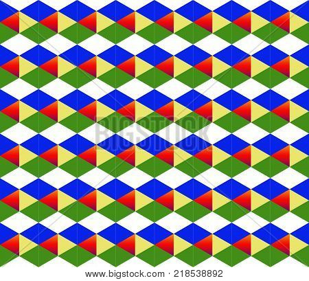 Geometric Bright Diamond Background Multicolored Pattern Symmetrical Pattern With Sequential Figures