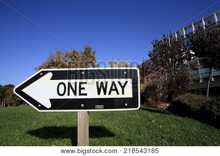 One Way signs are used to inform motorists that traffic on a street is traveling in one direction only.