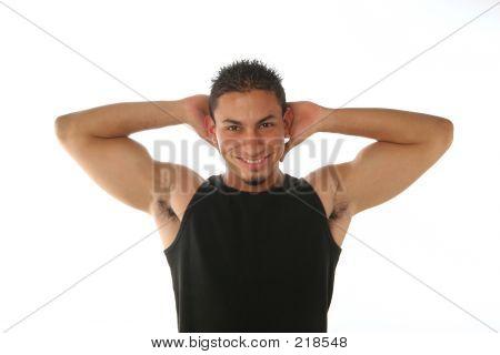 Hands Behind His Head