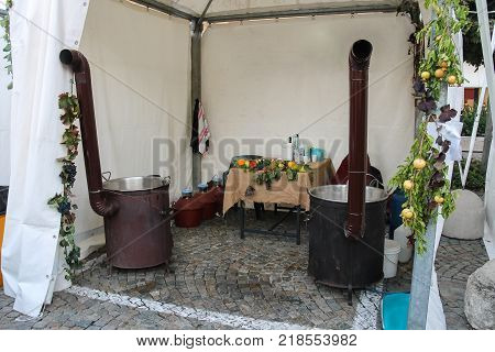 Equipment for processing of agricultural products under tent