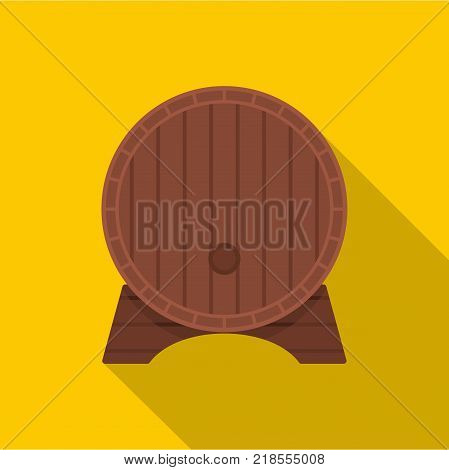 Beer barrel icon. Flat illustration of beer barrel vector icon for web