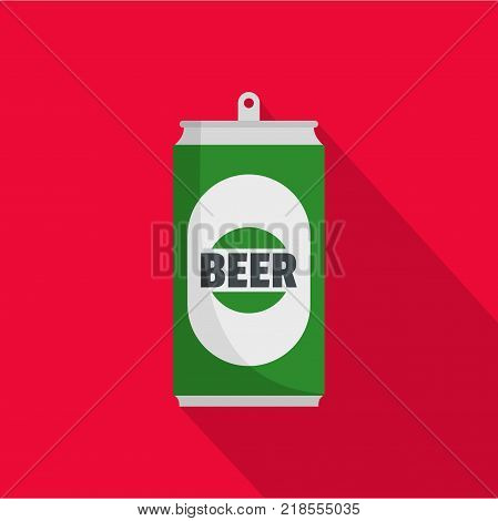 Beer can icon. Flat illustration of beer can vector icon for web