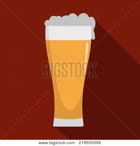 Glass of beverage icon. Flat illustration of glass of beverage vector icon for web