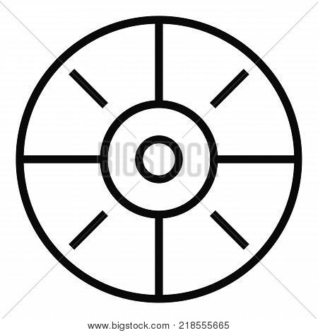 Sport target icon. Simple illustration of sport target vector icon for web