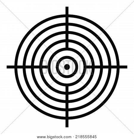 Aiming radar icon. Simple illustration of aiming radar vector icon for web