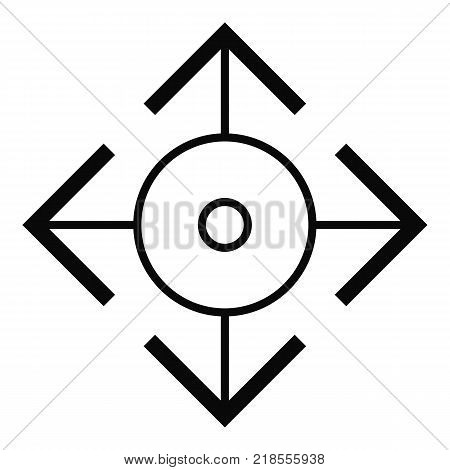Easy target icon. Simple illustration of easy target vector icon for web