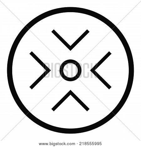 See radar icon. Simple illustration of see radar vector icon for web