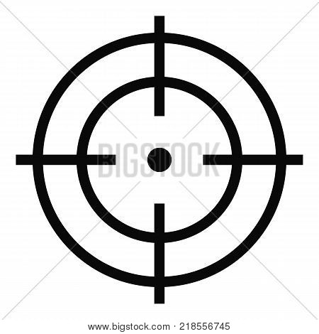 Target of sportsman icon. Simple illustration of target of sportsman vector icon for web