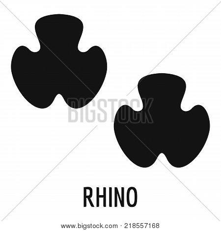 Rhino step icon. Simple illustration of rhino step vector icon for web