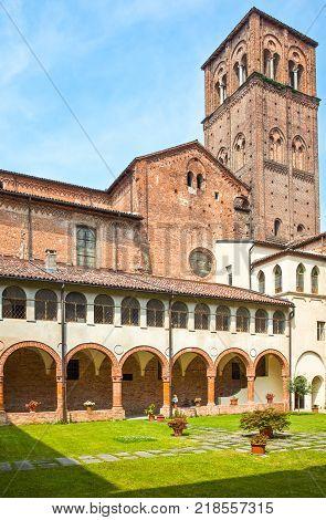 Casale Monferrato Italy - May 7 2011: The Domenicani's cloister