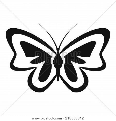 Unusual butterfly icon. Simple illustration of unusual butterfly vector icon for web