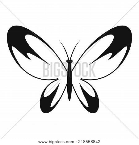 Wide wing butterfly icon. Simple illustration of wide wing butterfly vector icon for web