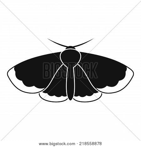 Moth icon. Simple illustration of moth vector icon for web