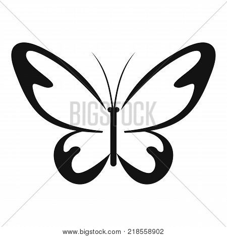 Flying moth icon. Simple illustration of flying moth vector icon for web