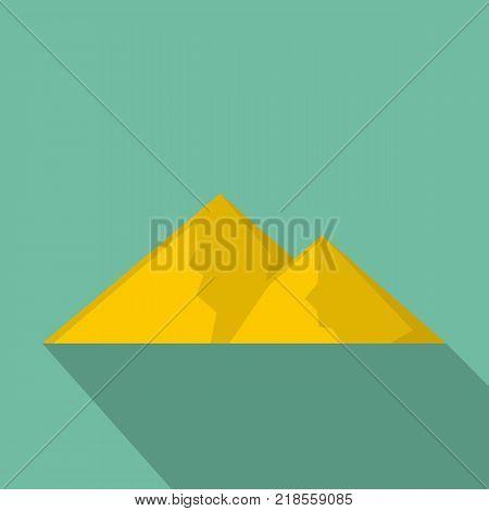 Mountain for extremal icon. Flat illustration of mountain for extremal vector icon for web