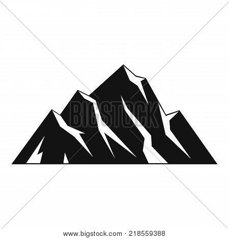 Extreme mountain icon. Simple illustration of extreme mountain vector icon for web