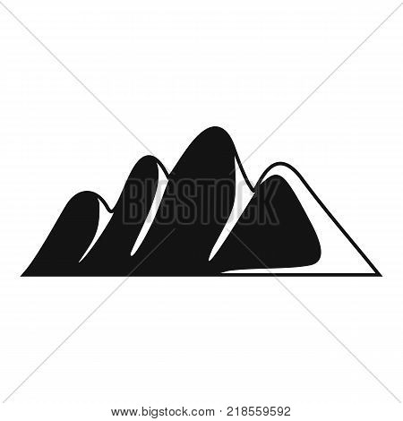 Europe mountain icon. Simple illustration of europe mountain vector icon for web