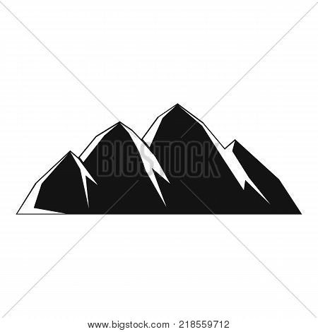 Large mountain icon. Simple illustration of large mountain vector icon for web