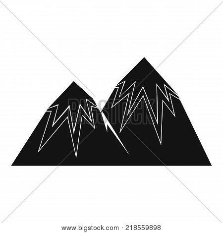 Snow peak icon. Simple illustration of snow peak vector icon for web