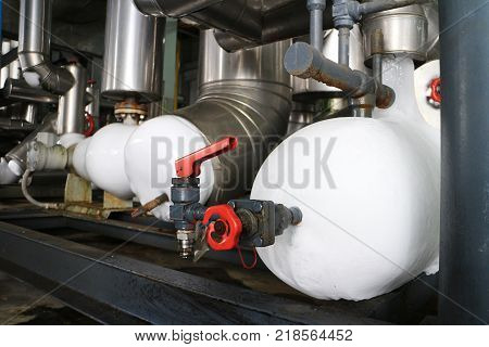 Ice Accumulating around Freezing Pipe at Refrigeration System