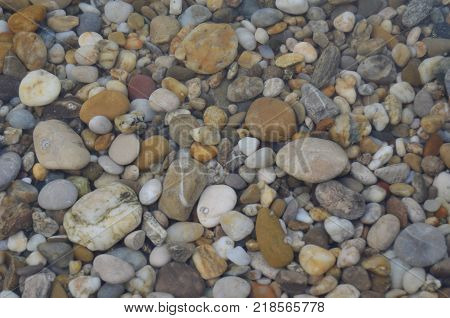 stones under water river Donau region Wachau Austria