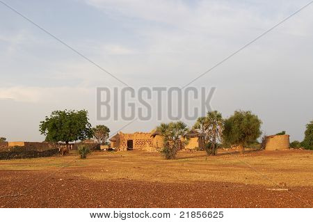 A view of African village