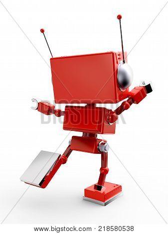 Red Retro Robot