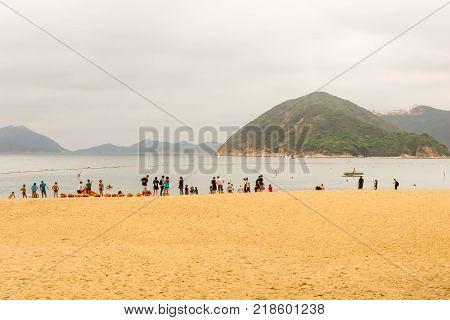 Hong Kong - May 20 2017 Editorail use only; View Repulse Bay beach in the southern part of Hong Kong Island