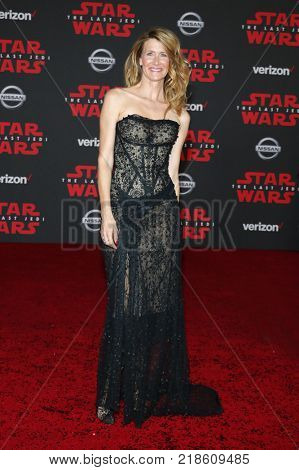 Laura Dern at the World premiere of 'Star Wars: The Last Jedi' held at the Shrine Auditorium in Los Angeles, USA on December 9, 2017.