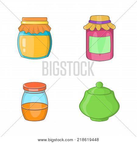 Jar icon set. Cartoon set of jar vector icons for web design isolated on white background