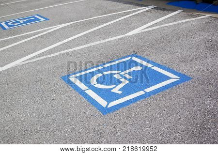 Wheelchair Disabled Handicap ADA Accessible Reserved Parking Space
