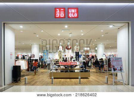 Kota Kinabalu, Malaysia - December 14, 2017: Uniqlo Store In Imago Shopping Mall. Uniqlo Co. Ltd. Is