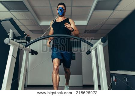 Athlete Testing His Performance In Sports Science Lab